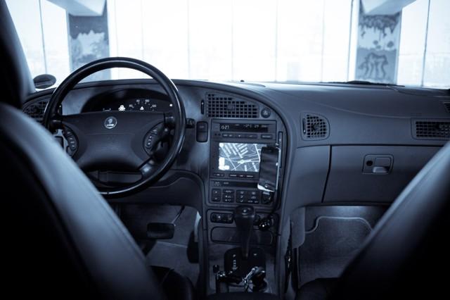 Saab 9 5 Arc 2002, navigatie, iPhone
