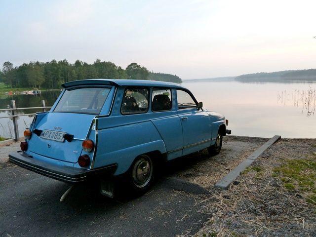 Ainda descansando o lago .... Saab 95 em Trollhättan