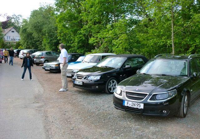 Saab Konvoi angekommen in Königstein