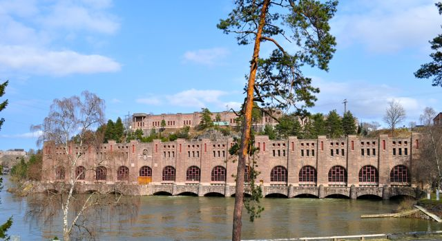 Industrial monument: hydroelectric power plant