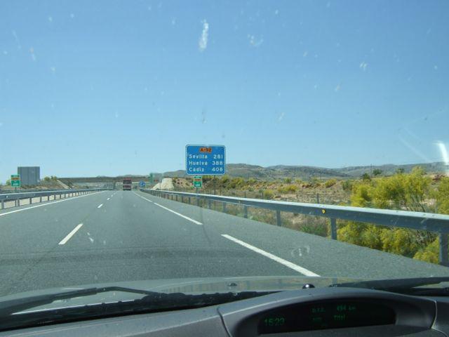 408 Kilometer bis Cadiz. Foto R. Röber