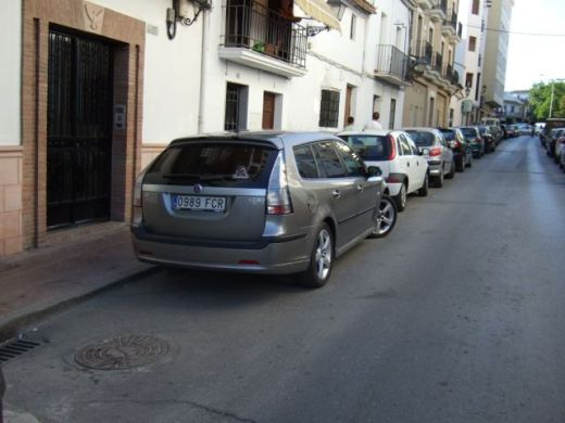 Saab 9-3 sports car photographed while traveling in Spain. Photo R. Röber