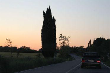 Saab 900 Abendstimmung in der Toscana. Bild von Otto.