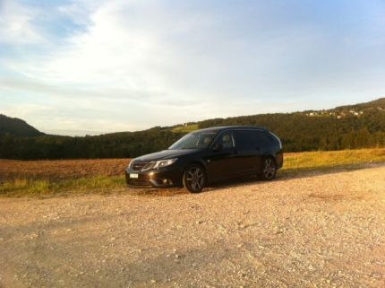 Saab Turbo X in the Jura. Picture of Yves.