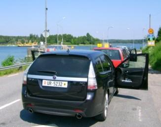 Saab 9-3 auf der Fähre. Foto von Ivo.