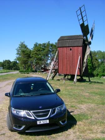 Saab 9-3 en Öland. Foto de Ivo.