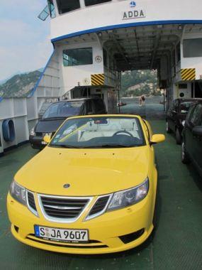 Cabriolet Saab 9-3 en Como. Foto de Martin.