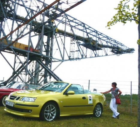Saab 9-3 Convertible Rally Saxony 2013. Lunch break in Senftenberg. Photo of Peter.