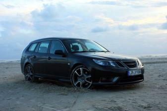 Saab Turbo X en la playa. Foto de Mathias.
