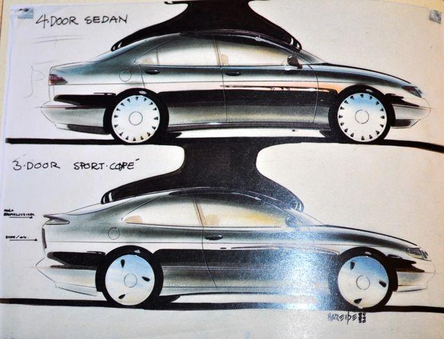 Saab 900 Entwurf von Einar Hareide