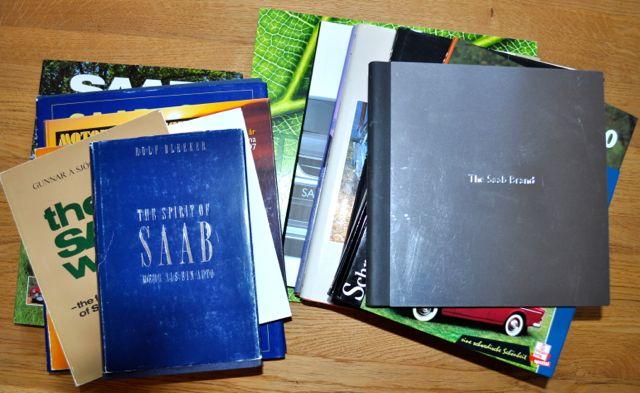 SAAB Literatur. Es gibt viele Saab Buecher. Hier ist nur ein Teil davon!