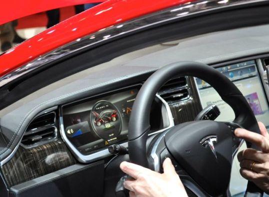 Kommandozentrale im Tesla