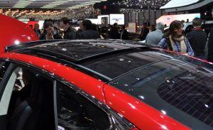 Gut: Panoramadach des Tesla S