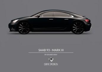 Saab 9-3 MkIII Grå Design