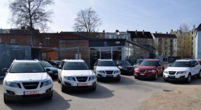 Saab Parade. 5 x Saab 9-4x in Kiel.