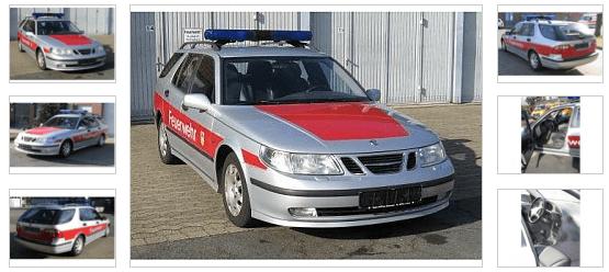 Saab 9-5 Feuerwehr Kommandowagen