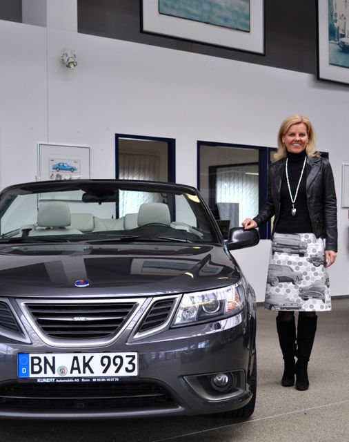 SAAB Gespraech in Bonn: Inka Spira, Kunert Automobile AG