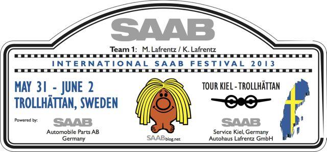 Rallye Plate: Saab Tour Kiel - Trollhattan