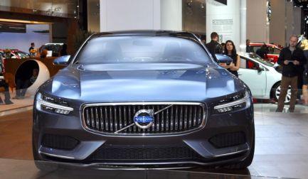 Novos elementos de design, frente Volvo Concept Coupe