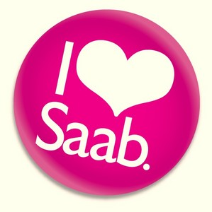 I love Saab Button