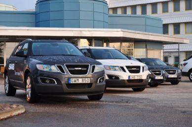 Saab 9-4x con rugiada mattutina