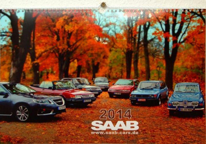 Saab Cars kalender i färg