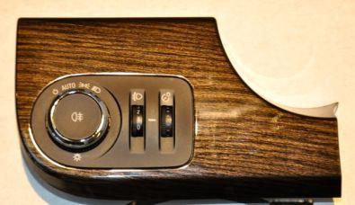 Detalhe: unidade de operação interruptor de luz