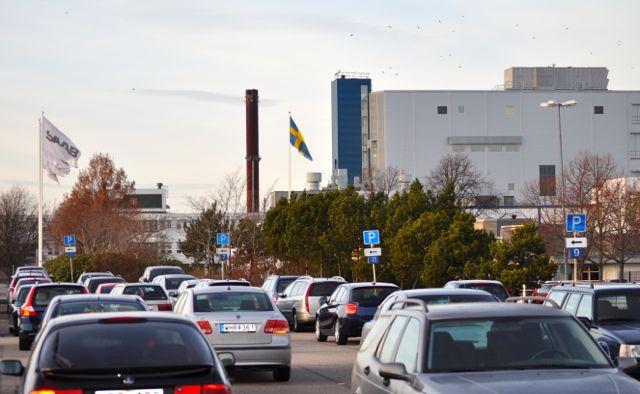 Saab fabriksarbetare parkering