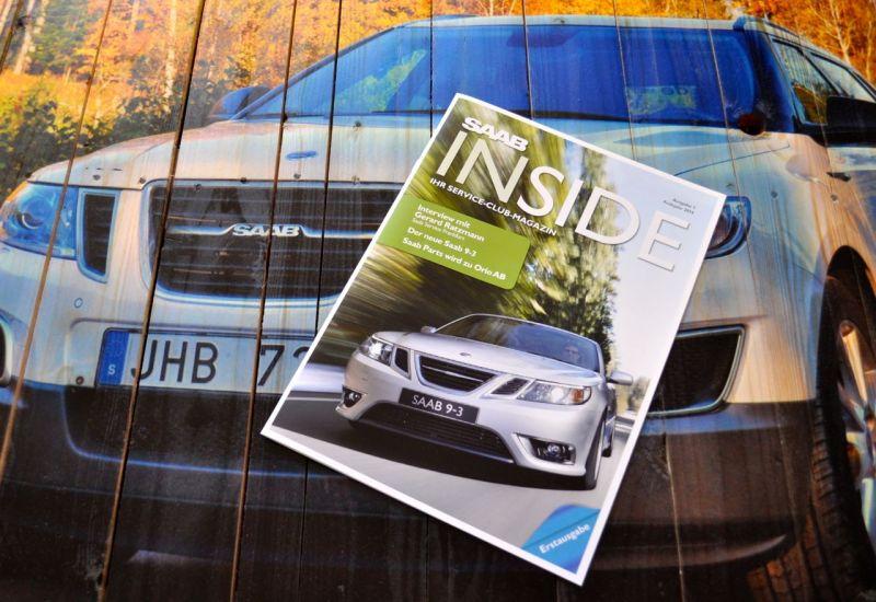 Saab Inside, die exklusive Printausgabe. @ 2014 saabblog.net