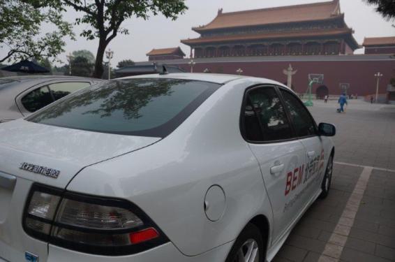 BAIC SAAB EV в Пекине. © Wolfgang Foerster