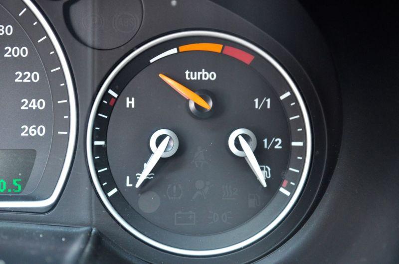 Saab Turbo X - nur echt mit der Ladedruck Anzeige. ©2014 saabblog.net