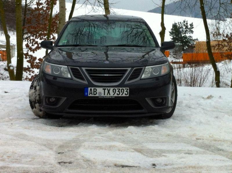 Turbo X på vintern, naturlig miljö @2014 saabblog.net