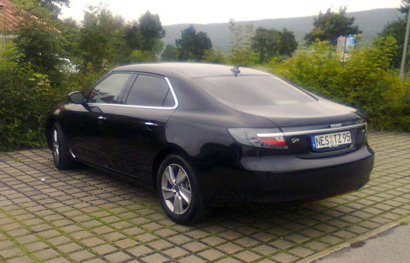 Saab 9-5 NG di Thomas, probabilmente l'ultima auto nuova in Germania.