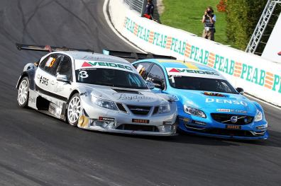 Saab 9-3 team Tido vs Polestar Volvo. Immagine: Team Tido