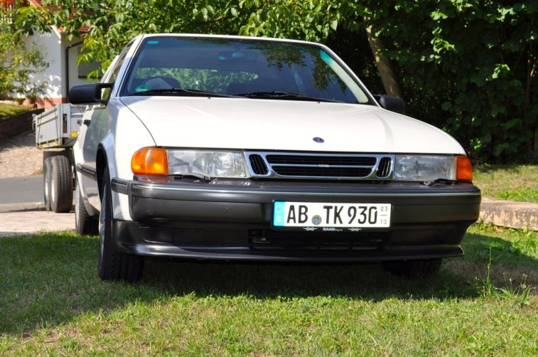 Saab 9000 CS, 1993. Mit Anhaenger. ©2014 saabblog.net
