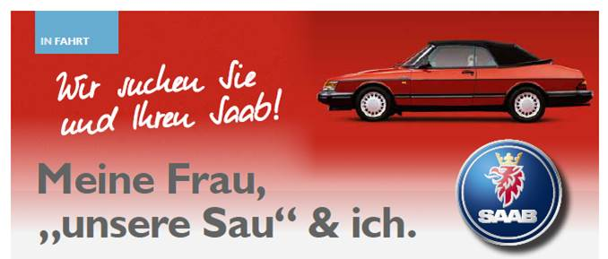 Saab Inside, Issue 2. Första platsläsarens artikel.