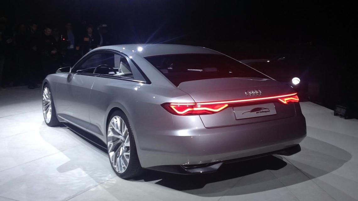 Audi Prologue. Heck mit Saab 9-5 Anleihen.
