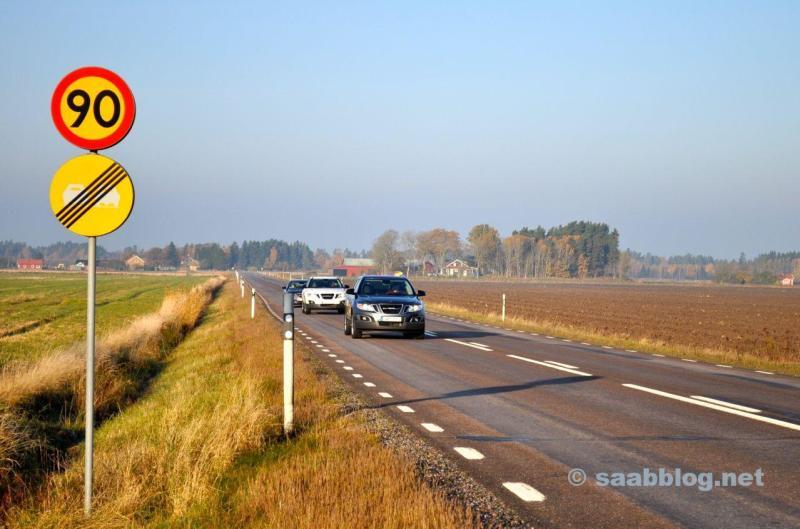 SAAB 9-4x und 9-5 NG SC unterwegs in Schweden.