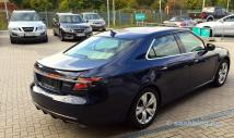 Saab 9-5 NG, with deer exhaust system