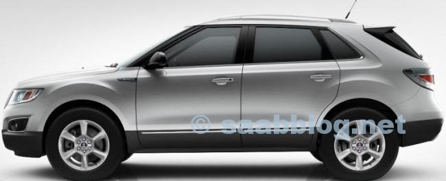 Saab 9-4x, 18 inch, sprankelend zilver