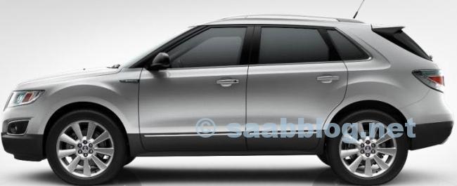 "Saab 9-4x, Diamandsilber Metallic, 20"""