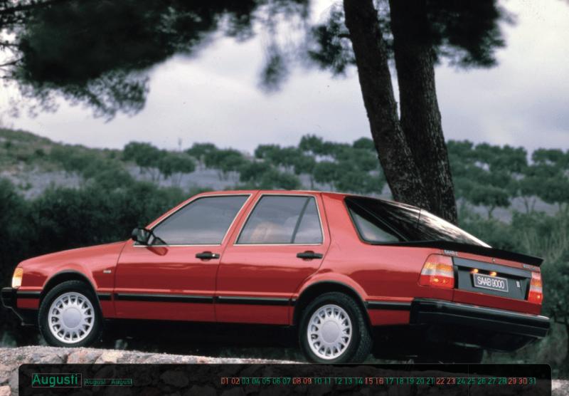Calendario Saab 9000 con calendario en estilo 9000er