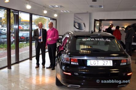 Der Saab 9-5 NG Sportkombi bei Bredlow, Besuch von J.P. Schuhmacher.