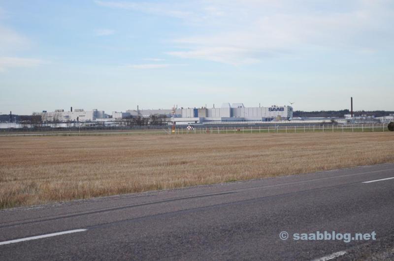 03.12.2013 La fábrica de Saab en el sol de la mañana.