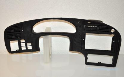 Saab 9-5 chromen dashboardbril carbon leer
