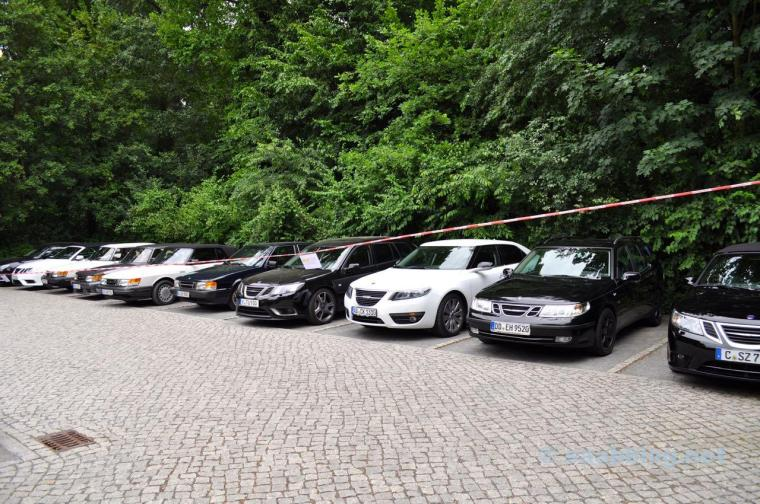 Troll på vägen. Saab 9-5 möter Saabfreunde Erftkreis.