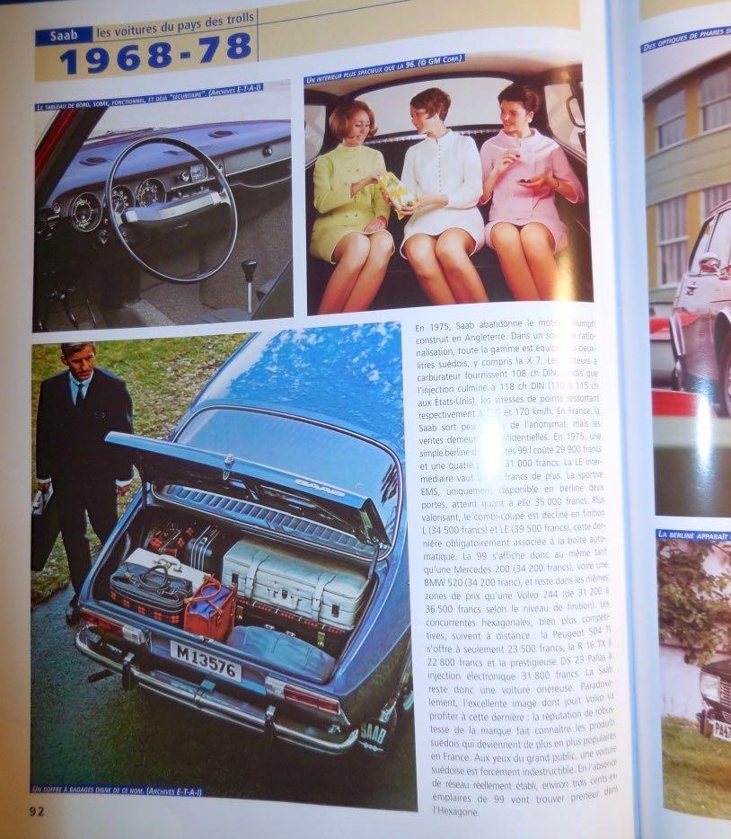 Einer der ersten Saab 99 in Deutschland, Baujahr 1969 (Fotoquelle: SAAB les voitures du pays des trolls, Xavier Chauvin, E-T-A-I)