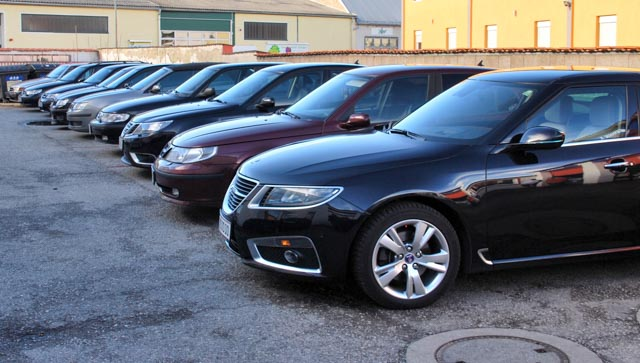 Many pre-owned SAABs for sale.  © Alexander König / Saab-club Austria.