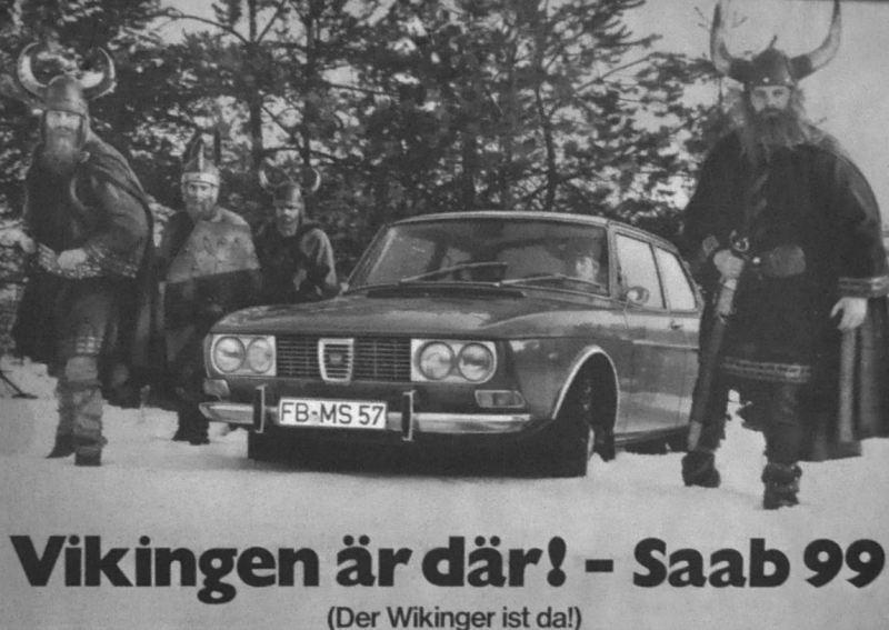 Saab 99 Premiere in Deutschland. Der Wikinger ist da.