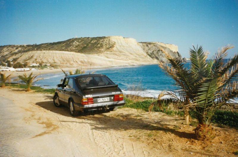 2. SAAB 900 Turbo 16S noch mit deutschen Kennzeichen in Portugal